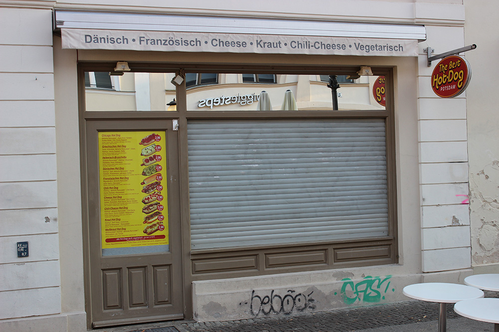 Hot Dog Laden Brandenburger Straße Potsdam