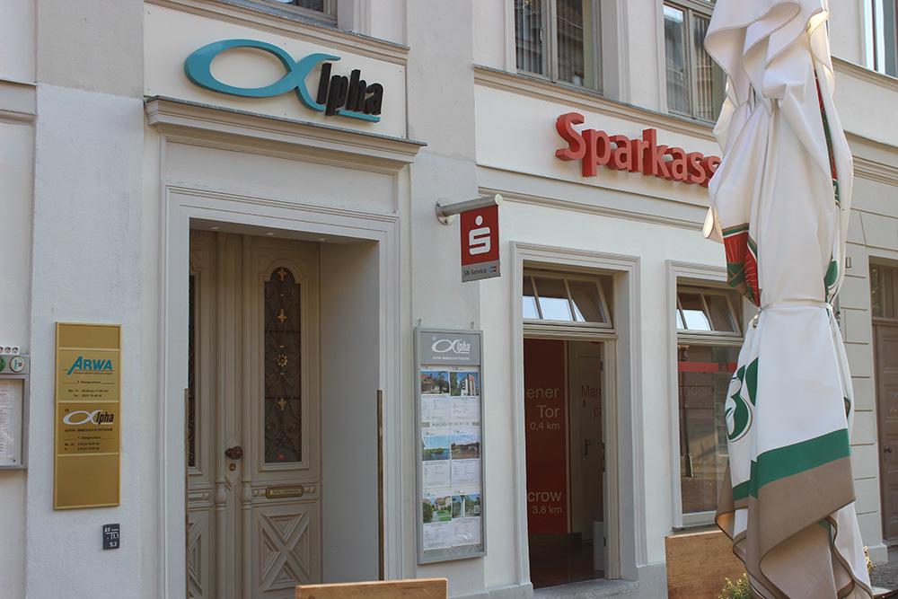 alpha Immobilien und Sparkasse Potsdam Brandenburger Straße Potsdam