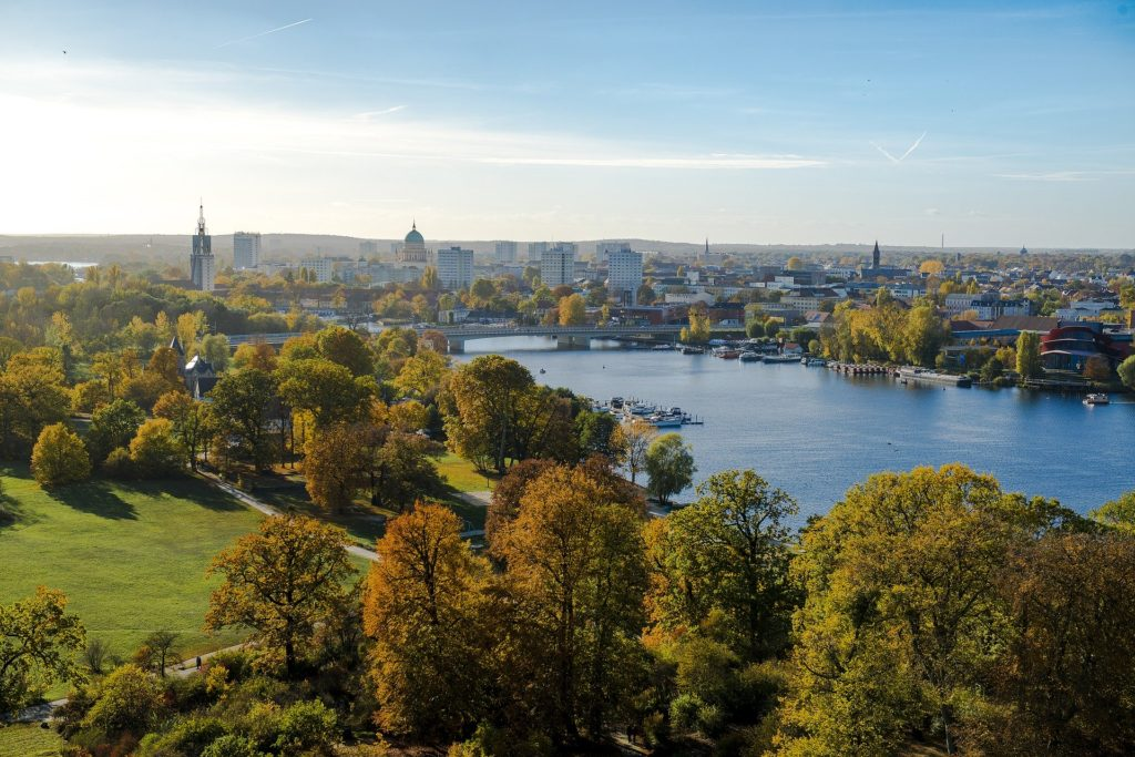 Der Park Babelsberg in Potsdam